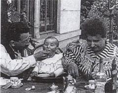 El desayuno del bebé. Hermanos Lumière. 1895