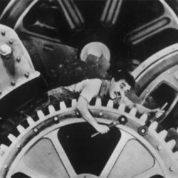 Tiempos modernos. Charles Chaplin, 1936